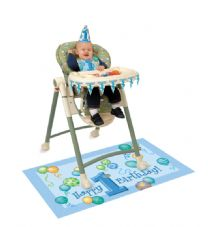 1St Birthday Blue High Chair Kit